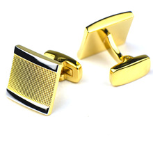 Bridegroom Wedding Evening Party Business Men French Shirts Cuff Links Plaid Cufflinks Golden Silvery Cufflink With Gift Bag