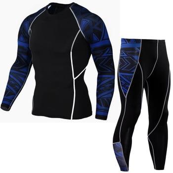 Thermique hommes sous-vêtements à manches longues Fitness collants hommes Compression élasticité séchage rapide respiration hommes sous-vêtement thermique 4XL