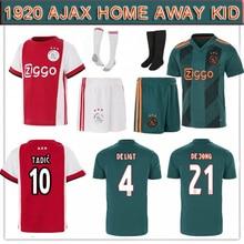 ad98ea167ab 2019 2020 nieuwe komen away home hot Ajax voetbal Jersey kids DE JONG TADIC Ajax  jersey