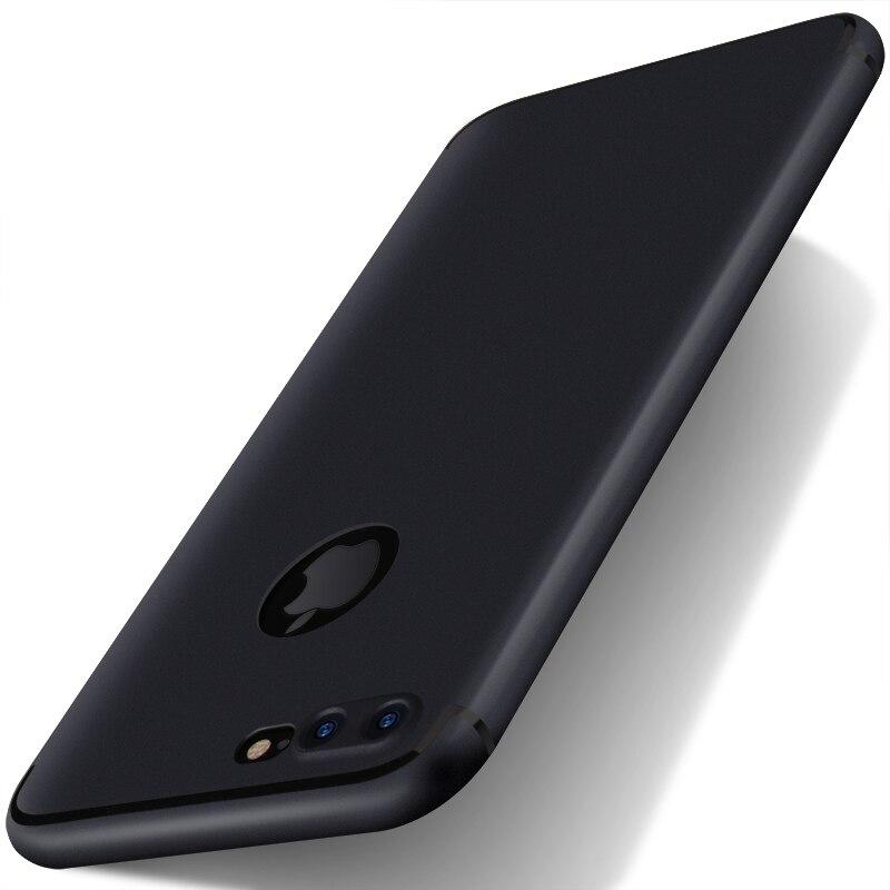 imágenes para Para el iphone 7 más Cubierta de la Caja TPU de Silicona Delgada iphone7 Suave para el iphone 6 6 S Plus Mate Lateral + Enchufe Del Polvo 10 unids/lote venta al por mayor