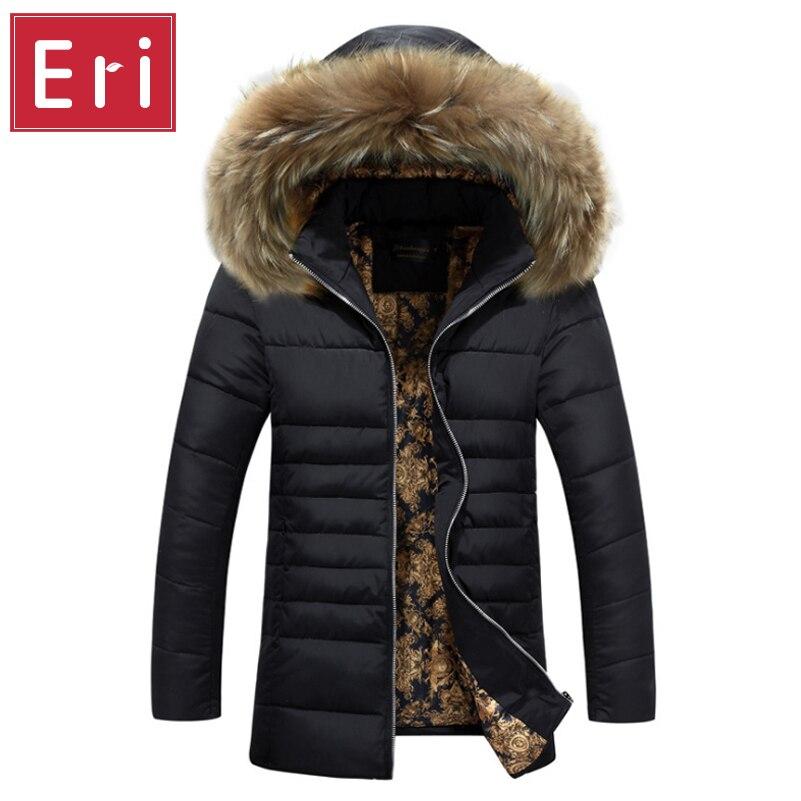 ФОТО 2017 New Arrivals Winter Parkas Men's Jacket Fur Collar Windproof Parka Warm Jacket for Men Hooded Men Coat Men's Clothing X432