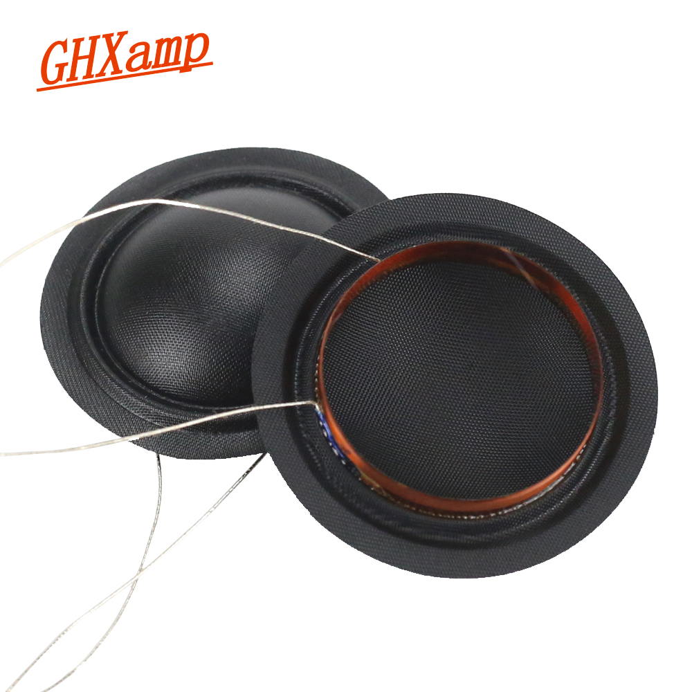 GHXAMP 25.4mm 25.5mm Tweeters Voice Coil 1 Inch 6OHM 8ohm Silk Membrane Same Direction KSV Treble  DIY 2PCS