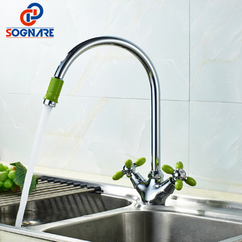 цена на SOGNARE Kitchen Water Faucet For Kitchen Mixer Cold And Hot Basin Sink Mixer Tap 360 Degree Rotation Single Lever Sink Mixer