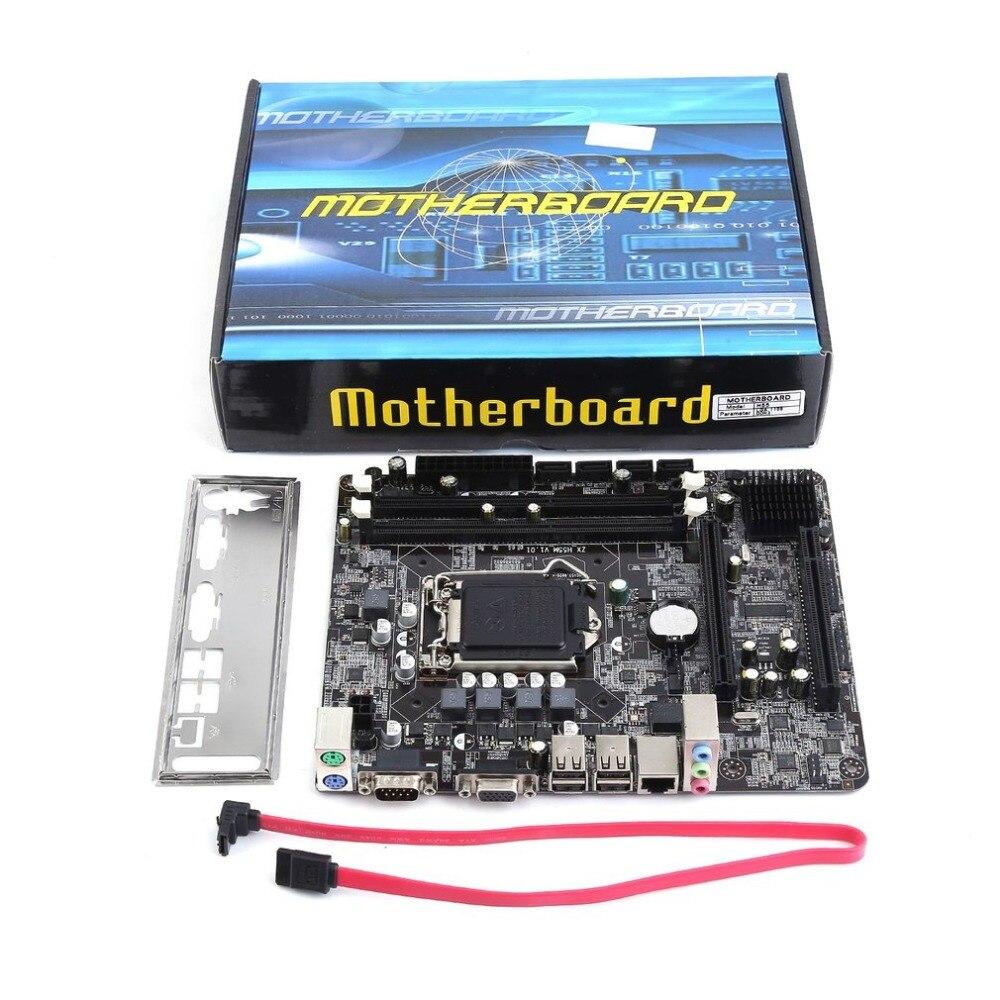 2018 new Professional Motherboard H55 A1 LGA 1156 DDR3 RAM 8G Board Desktop Computer Motherboard 6 Channel Mainboard