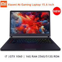 Xiaomi Mi Gaming Laptop 15.6'' Windows 10 Intel Core i7 8750H Hexa Core GTX 1060 16GB RAM 256GB/512GB ROM Notebook Dual WiFi BT