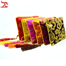 Retail One Piece Small Flower Indian Cotton Jewelry Gift Pouch Silk Jewelry