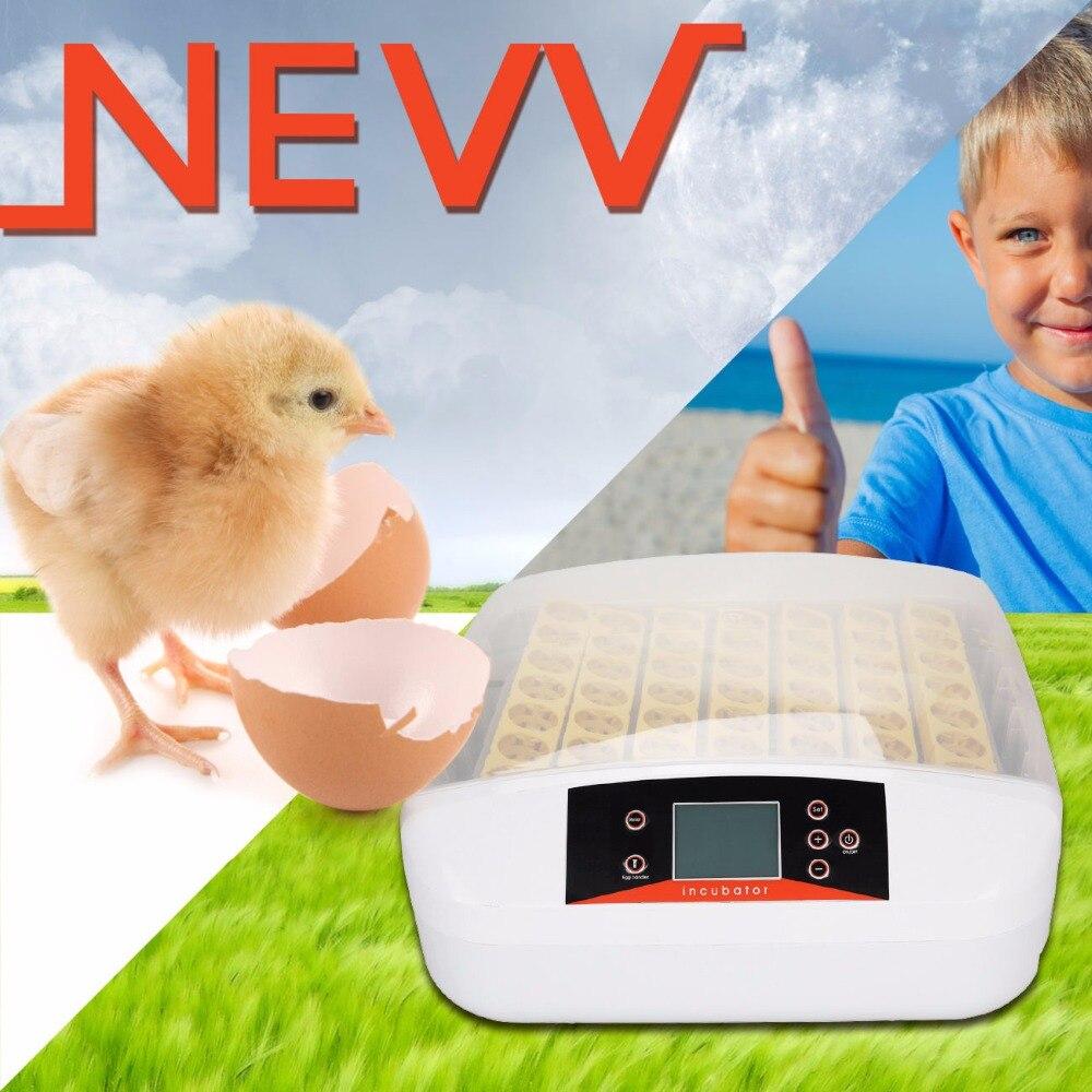 (UE gratuite) 56 oeufs Couveuse Numérique Entièrement Automatique Oeuf Incubateur avec la lumière Volaille Poulet Canard Temp et Humidité Contrôleur