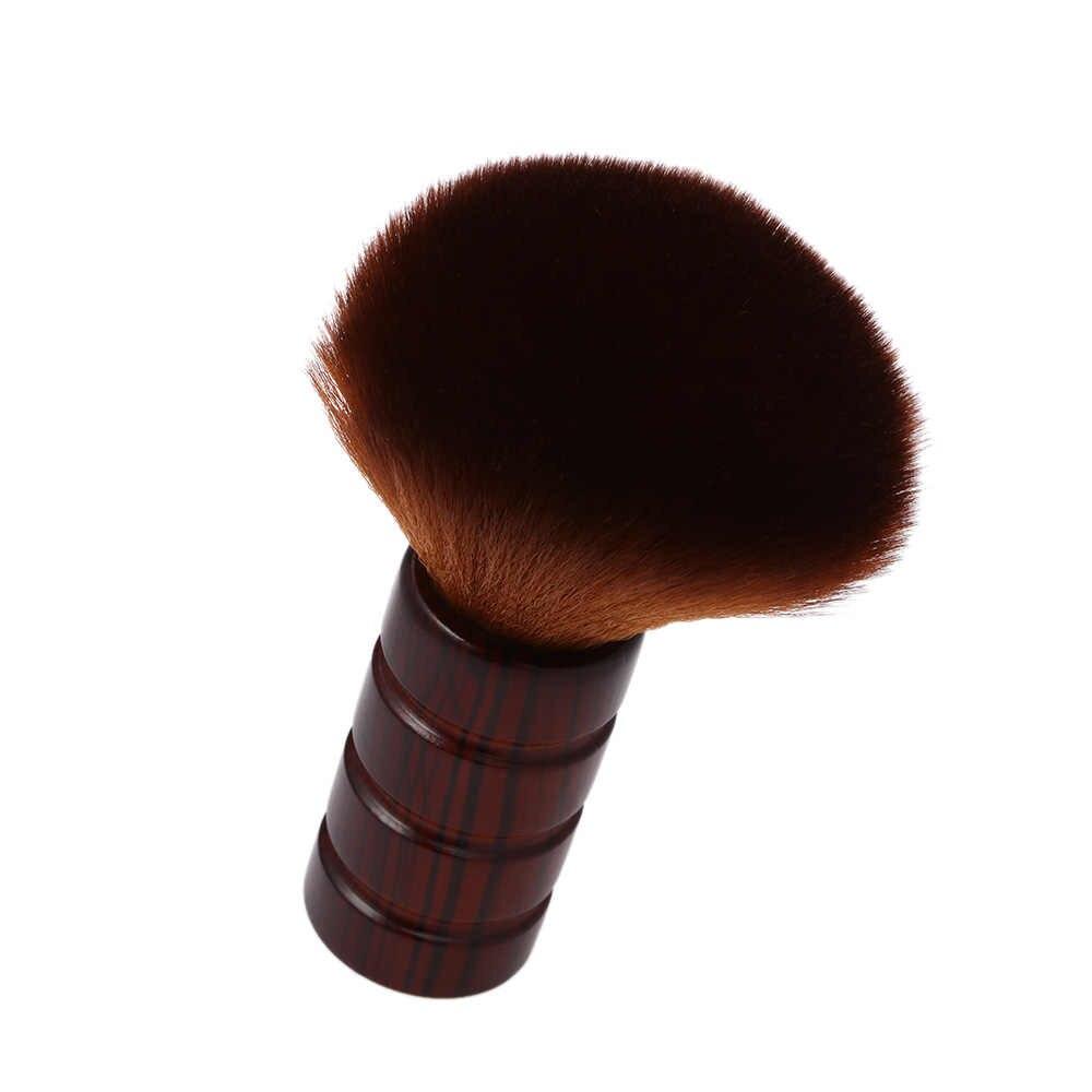 Парикмахерская Мягкая для шеи щетка для лица Duster кисточки для сметания волос щетка для волос Парикмахерская пластиковая ручка косметический инструмент аксессуар для укладки