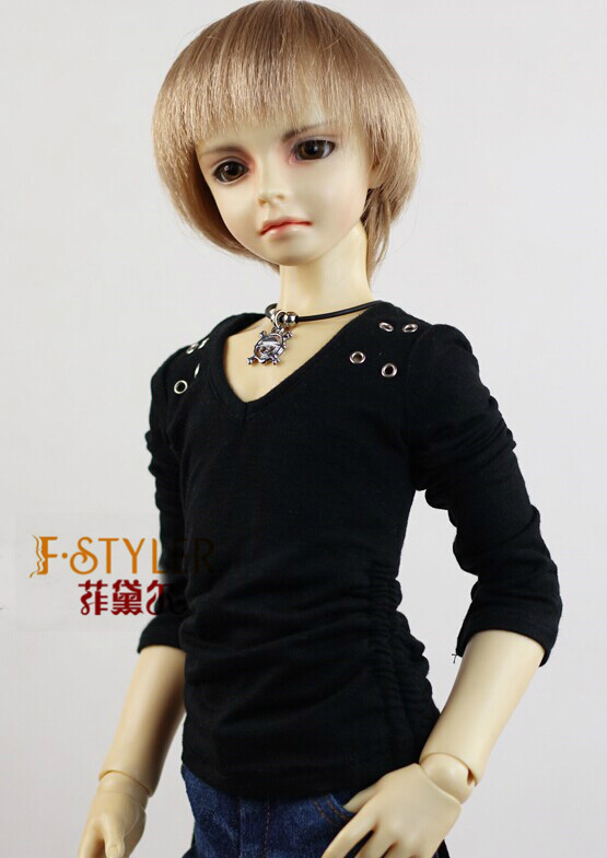 BJD doll clothes SD MSD YOSD Doll clothes   Daily leisure long-sleeved T-shirt unisex irregular long t shirt for bjd doll 1 6 yosd 1 4 msd 1 3 sd10 sd13 sd16 sd17 uncle luts dod as dz sd doll clothes cwb7