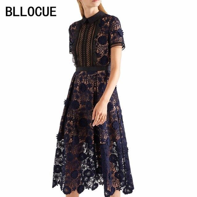 787cc73a669d2 US $29.81 29% OFF|BLLOCUE High Quality Self Portrait Dress 2019 Spring  Runway Women Embroidery Elegant Party Ladies Long Dresses vestidos-in  Dresses ...