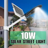 Sumxi LED Solar Street Light Outdoor Lighting Solar Radar Sensor Wall Night Lamp With Pole For Garden Home 10 20 30 50W