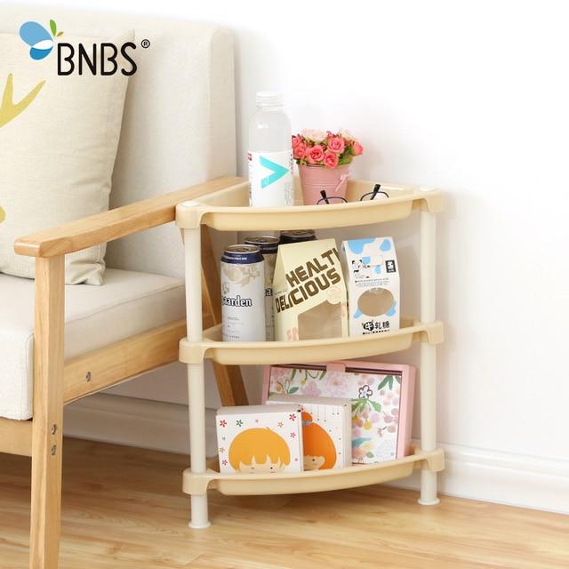 Bnbs 3 Layers Kitchen Desktop Plastic Storage Rack Home Living Shelves Bathroom Toilet Countertop