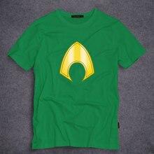 DC Comics Aquaman Adult T Shirt Men Top Tees Cotton O Neck Tshirt for Man Clothing Short Sleeve S-5XL