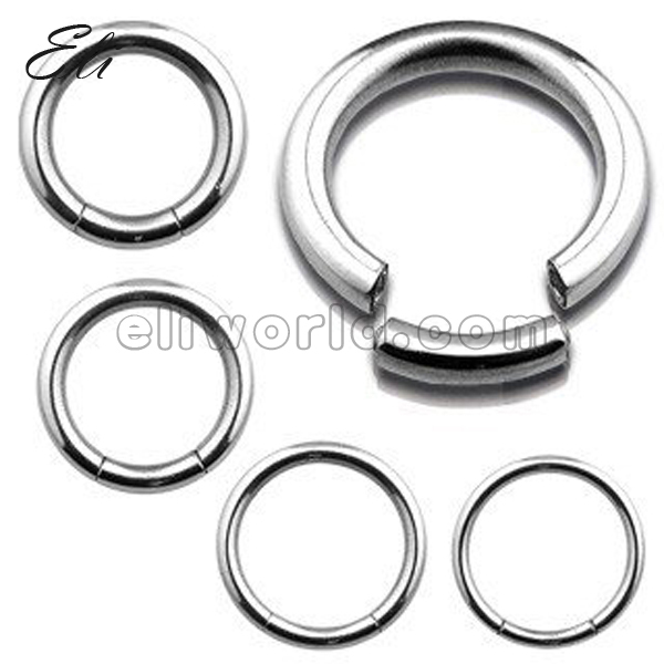 Retail Surgical Steel <font><b>Segment</b></font> Ring <font><b>16</b></font> Gauge(1.2mm) Captive Ring Body Jewelry image