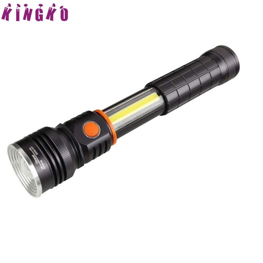 High Quality  Magnet Tail CREE XM-L2 T6+COB LED 4 Mode 3500Lm 18650 Flashlight Torch 950lm 3 mode white bicycle headlamp w cree xm l t6 black silver 2 x 18650