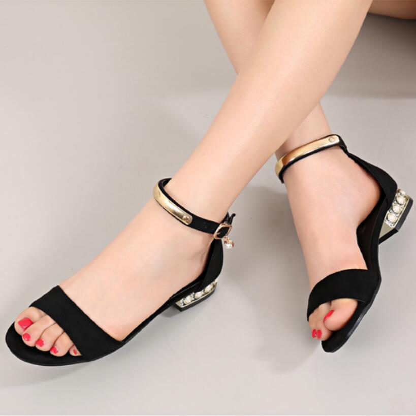 7c8c0367cc48 Buy ankle strap low heel sandal and get free shipping on AliExpress.com