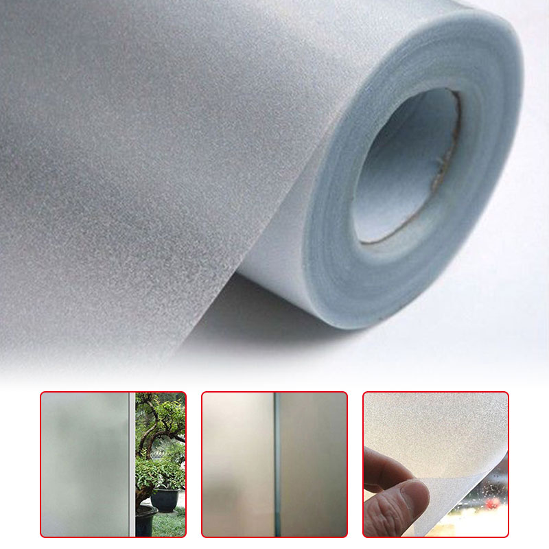 Wide 45cm X Long 100cm/200cm Frosted Opaque Glass Window Film For Window Privacy Self Adhesive Glass Stickers Home Decor
