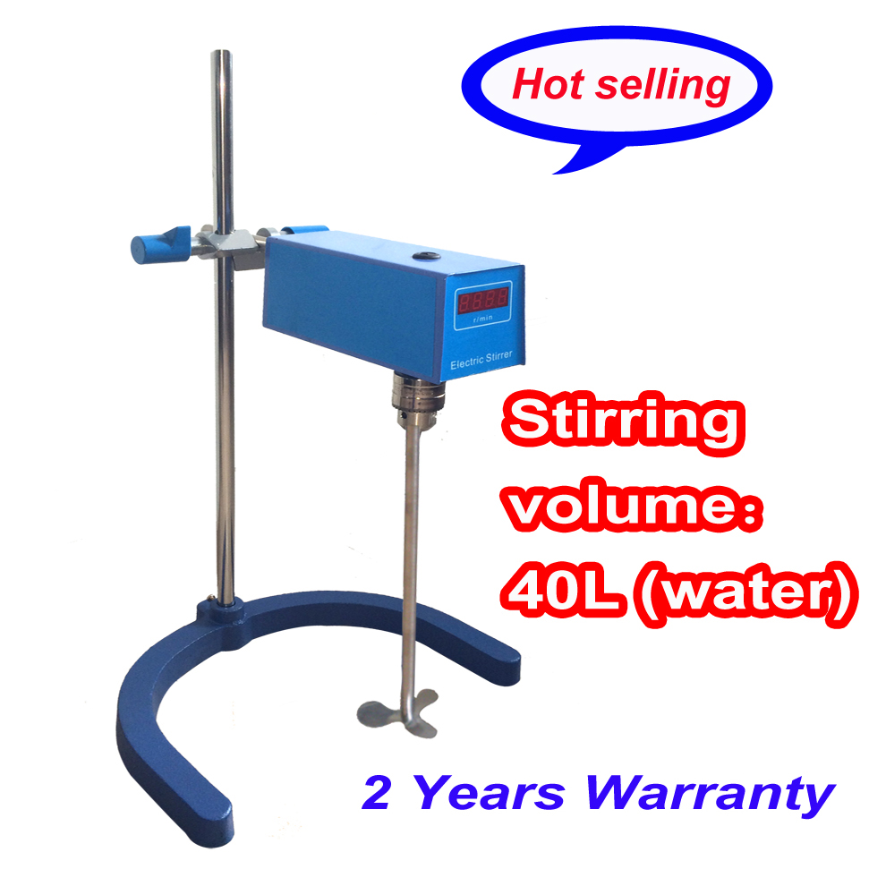 Free shipping,40L laboratory Scientific instrument Digital Overhead Stirrer (Digital Display) 60-1500rpm free shipping ptfe stir rod for overhead stirrer
