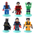 6X МИНИ Marvel Мстители Халк Супер Герой Робин Гуд Коллекция Анимация Персонажей Игрушки Подарок DIY