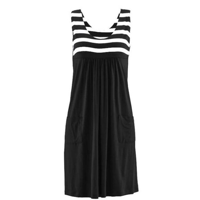 Fashion striped dress large size summer 5