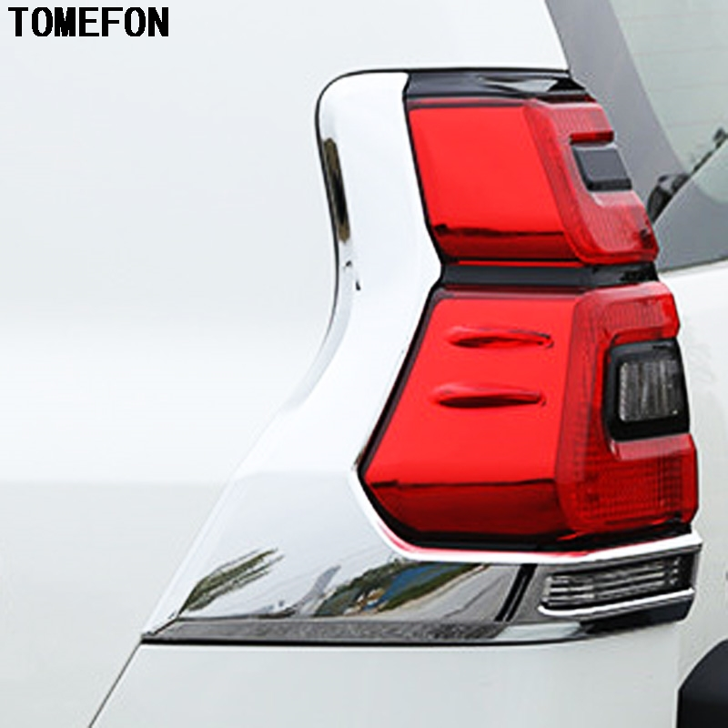 buy tomefon 2pcs abs chrome rear tail light cover for toyota land cruiser prado. Black Bedroom Furniture Sets. Home Design Ideas