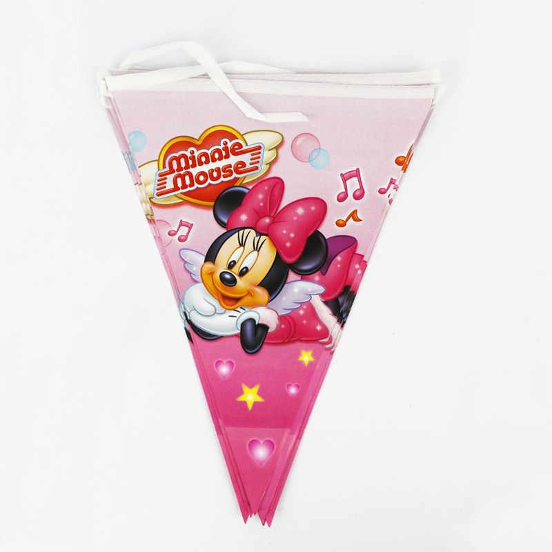 Милая шапка-маска пластиковая соломинка с изображением Минни Маус, Подарочная сумка для мальчиков и девочек на день рождения, украшение душевой кабины