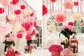 (40 pcs) 10 cm Minúsculo papel Tissue pom poms bolas de flores artificiais decoração de Casamento aniversário fontes do partido crianças W040