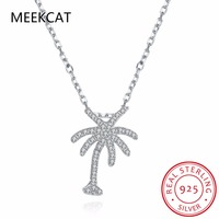 MEEKCAT Hot Sale 100 Real 925 Sterling Silver Family Tree Pendant Necklaces Colar De Prata For