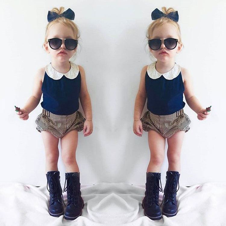 0c62a2a191fb3 Baby Girl Clothes Suit Short Coat Striped Baby Clothes For 2 4 Years Old  Handmade High Quality Baby Girl Clothes Suit 2016-in Clothing Sets from  Mother ...