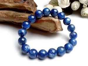 11mm 100% Natural Blue Kyanite Gemstone Stretch Crystal Round Bead Bracelet Blue Gemstone Natural Kyanite AAAAA For Women Men