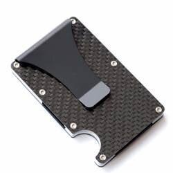 2019 новый дизайн минималистский кошелек rfid Блокировка для мужчин углеродного волокна держатель кредитной карты