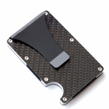 2019 new design minimalist wallet rfid blocking for men carbon fiber wallet credit card holder
