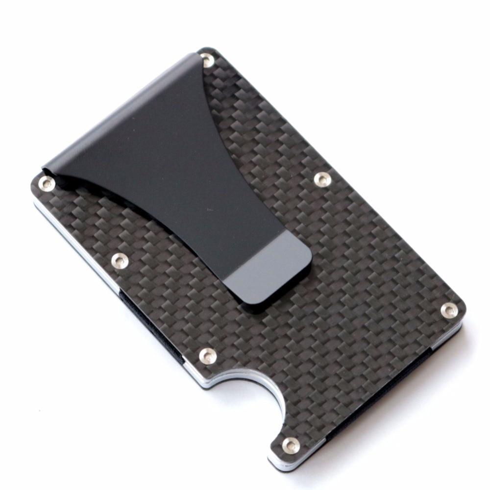 2020 New Design Minimalist Wallet Rfid Blocking For Men Carbon Fiber Wallet Credit Card Holder