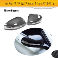 Carbon Fiber Side Mirror Trim Covers For Mercedes Benz W205 W222 Left Hand Drive 2014 2015