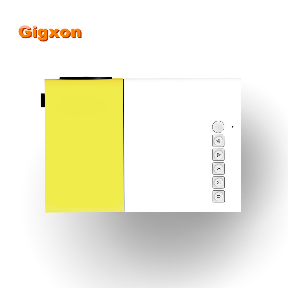 Gigxon 2016 high quality mini projetor G19 support mp3 wma pocket mini projector AV USB SD