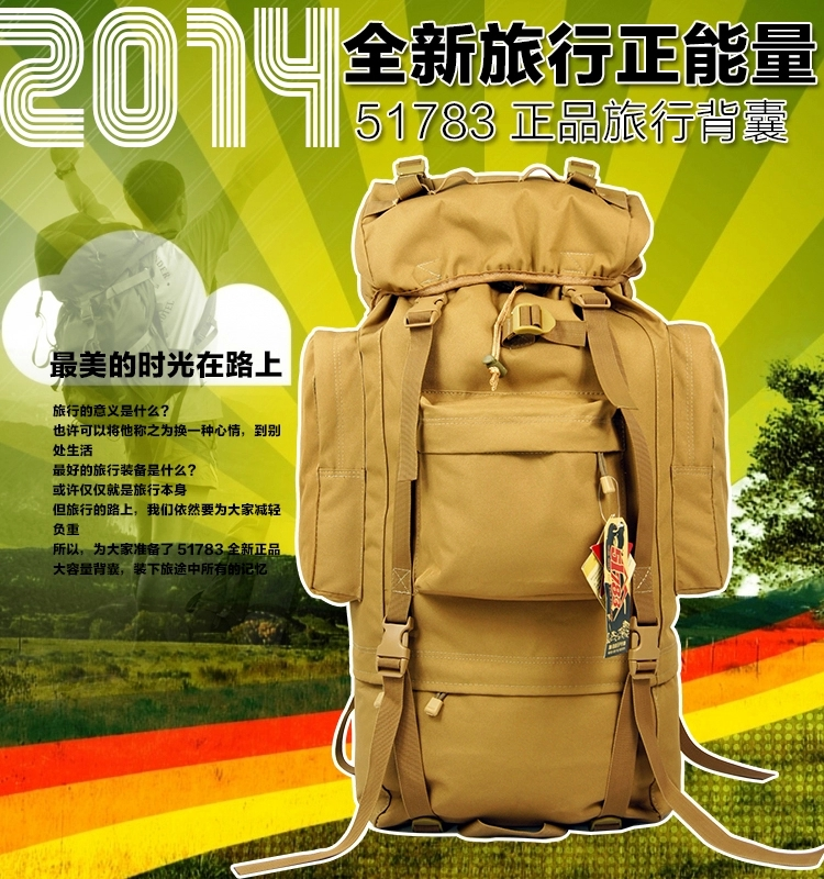 Livraison gratuite 65L sac à dos de voyage tactique en plein air Camping randonnée sac pour alpinistes couverture de pluie cadre en métal