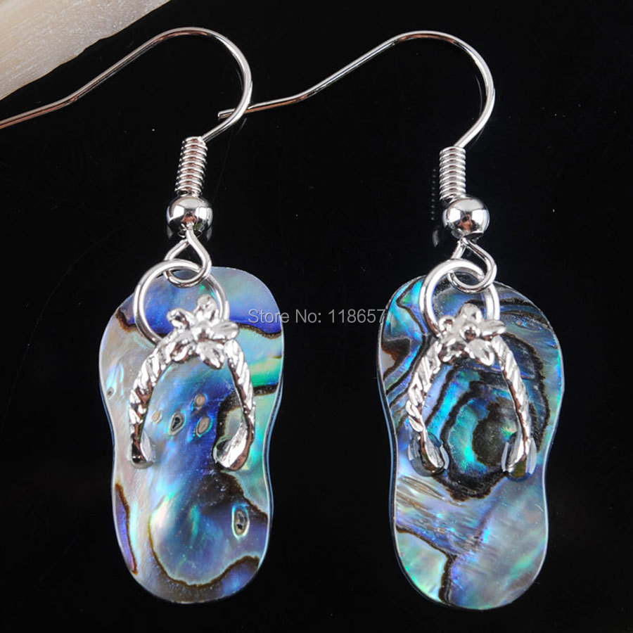 Free Shipping New Natural Zealand Abalone Shell Shoes