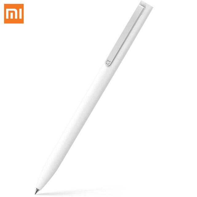 Xiaomi White Black 0.5mm Point Mijia Sign Pen MI Pen Smooth Switzerland Refill Japan Black Blue Ink 10mm Diamete Light spin pen
