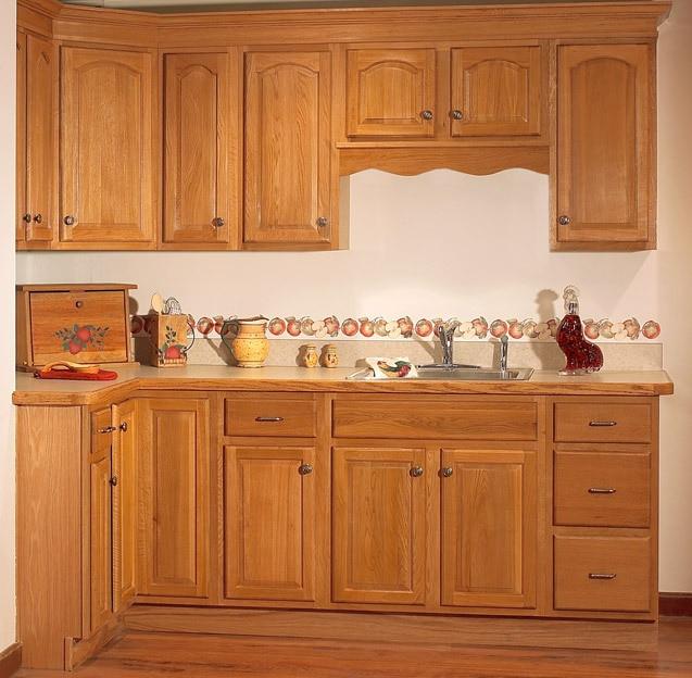 Colors For Oak Kitchen Cabinets: Kitchen Cabinet Whole Kitchen Cabinet Kitchen Customize Quartz Countertop Solid Wood Oak Door