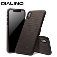 For iPhone XS Genuine Leather Luxury Ultrathin Phone Case iPhone X Fashion Full Protective Back Cover For 5.8 Inch