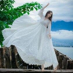 2017 verano Original Vintage fantasía maternidad embarazadas mujeres fotografía Props playa vestido largo blanco falda de lujo