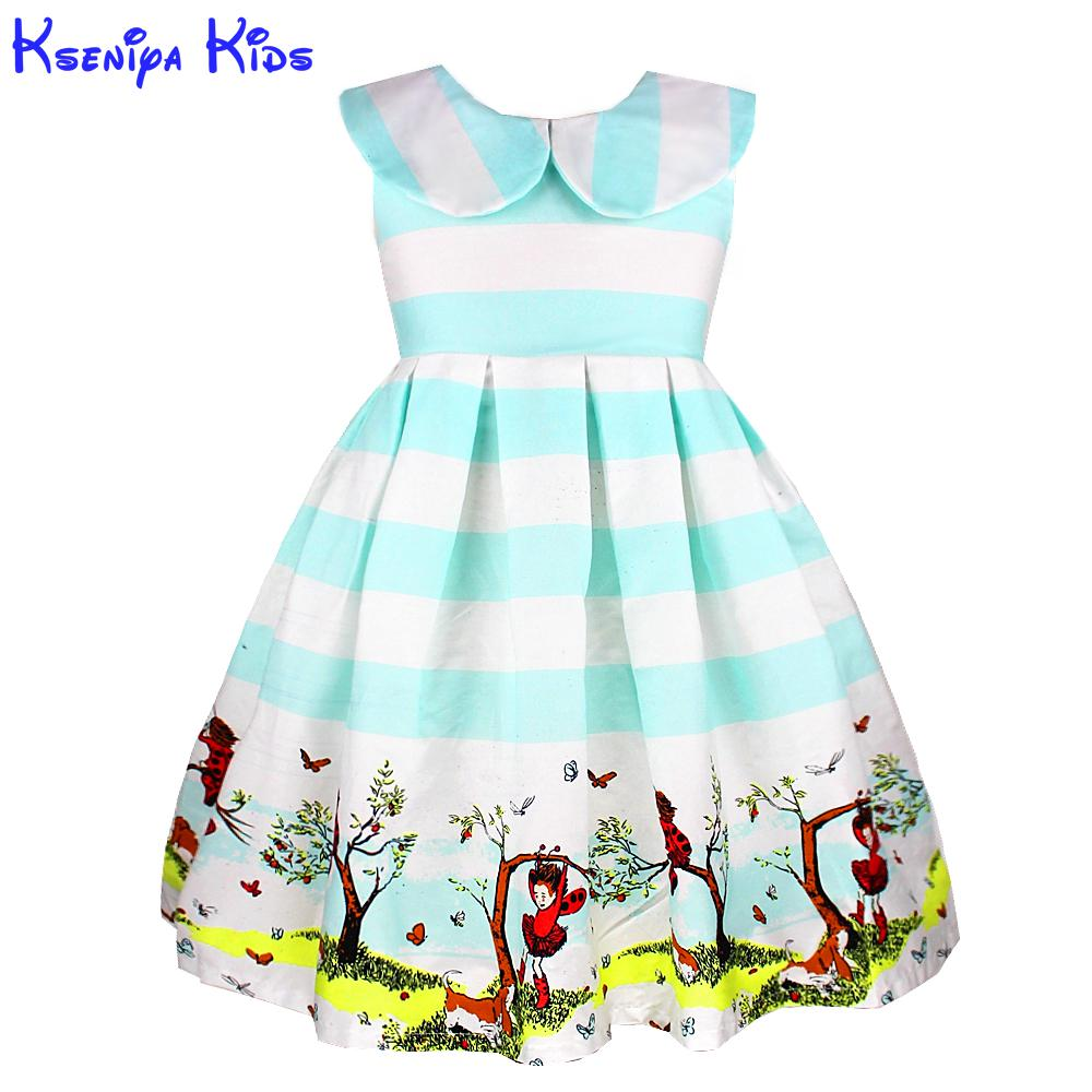 2017 New Girl Princess Dress Girl Wedding Party Frocks For Kids Evening Gowns For Kids White Blue Dress For Kids Princess Dress