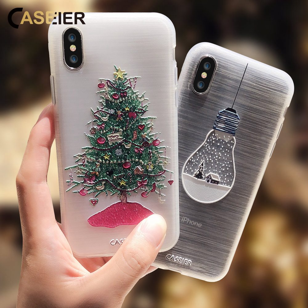 Iphone 6 Plus Christmas Case.Us 2 54 41 Off Caseier Christmas Phone Case For Iphone X 8 7 6s 6 Plus Xs Max 5s Se 2019 New Year Cases For Iphone 6 6s 7 8 Plus 10 Accessories In