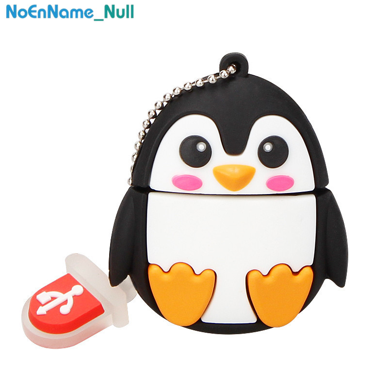 Image 5 - USB 2.0 creative cartoon penguin fox 128GB u disk pen drive usb flash drive 4GB 8GB 16GB 32GB 64GB flash memory stick for gift-in USB Flash Drives from Computer & Office