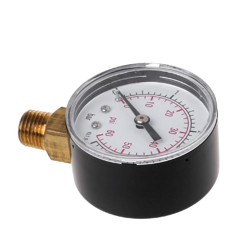 "Pool Spa Filter Water Pressure Gauge 0-60 PSI  Size 2 1//2/""  Back Mount 1//4/"" Inch"