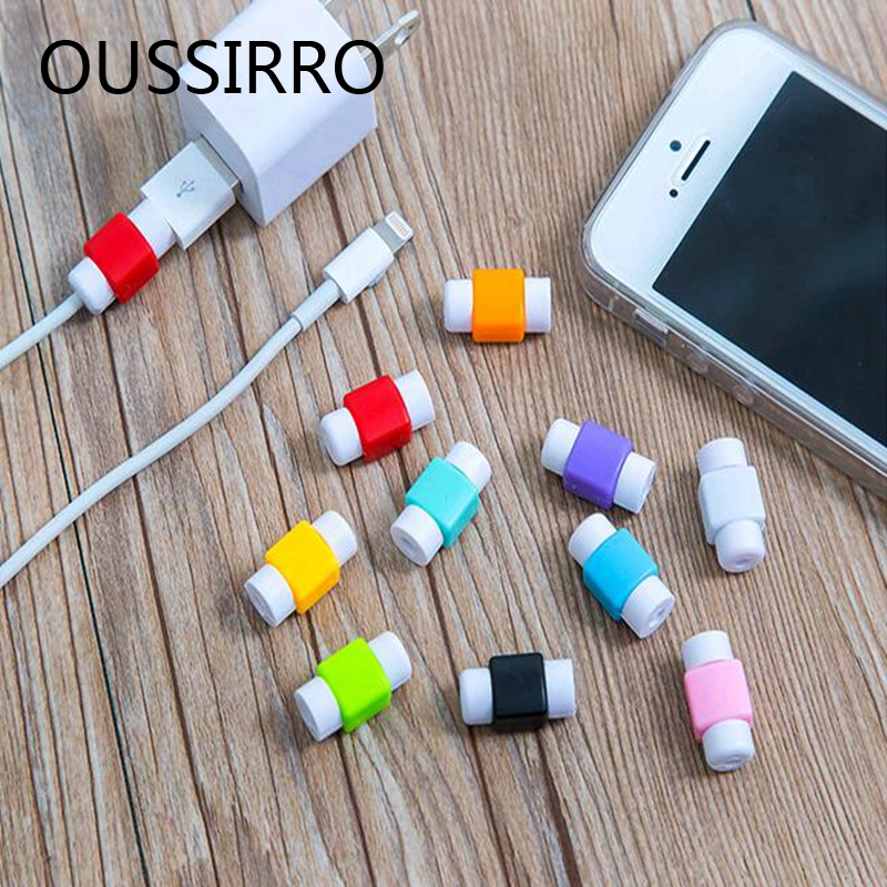 5Pcs/lot Data Line Protection Case Coil Protective Cover For Charging Cable Phone Charging Case Headphone storage box gifts
