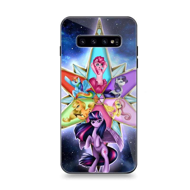 Мобильный Силиконовый чехол для телефона для samsung S7 край S8 S9 S10 плюс A10 A20 A30 A40 A50 A60 A70 Note 8 9 чехол с рисунком из мультфильма «Мой Маленький Пони» в виде ракушки