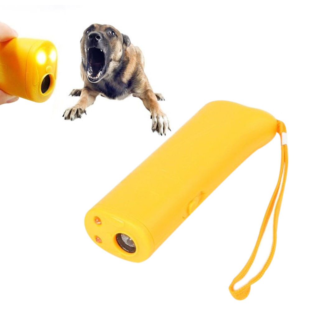Ultrasonic Dog Training Device Anti Bark Barking Control Led Light Whistle Circuit 1 X Pet Repelled Trainer