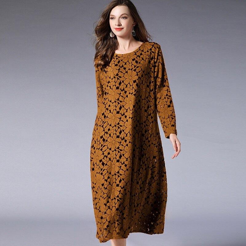 78a8e992bcc 2018 Winter Maternity Dresses Plus Size Lace Dress Christmas Long Sleeve Dress  Elegant Pregnancy Clothes Vintage Printed