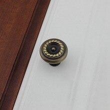Кофе бронза античная европейский стиль мебель ручка двери шкафа ручки шкаф ящика ( диаметр : 32 мм )